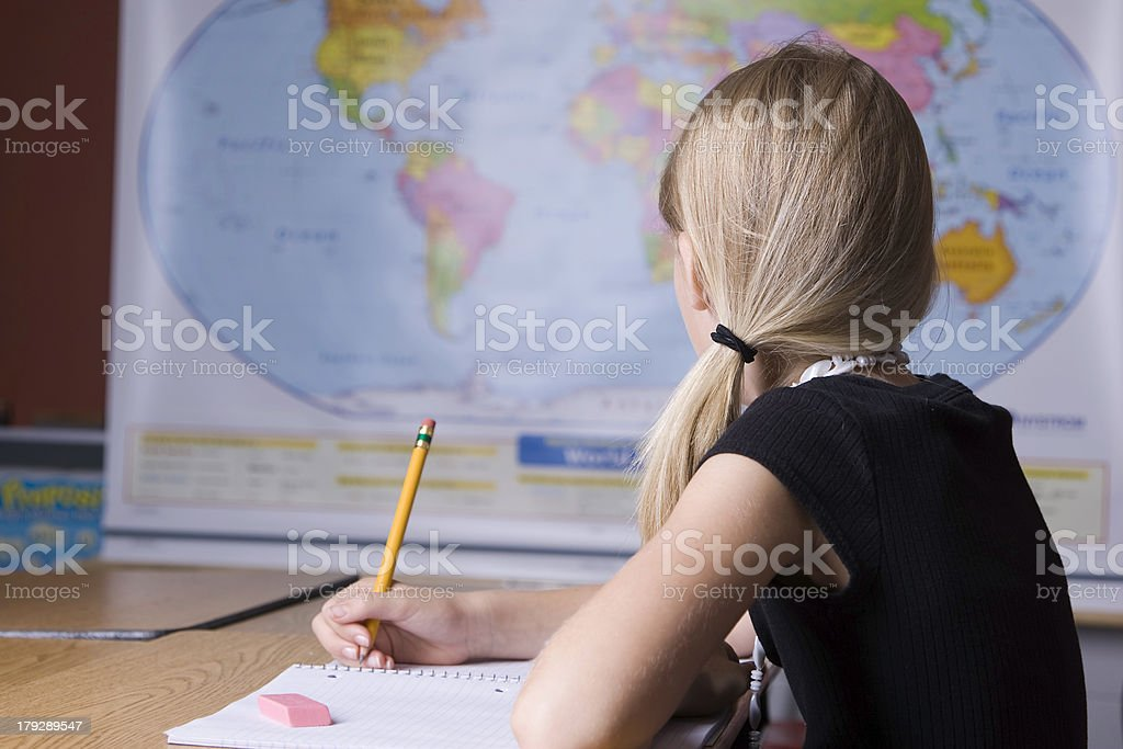 Learning About the World stock photo