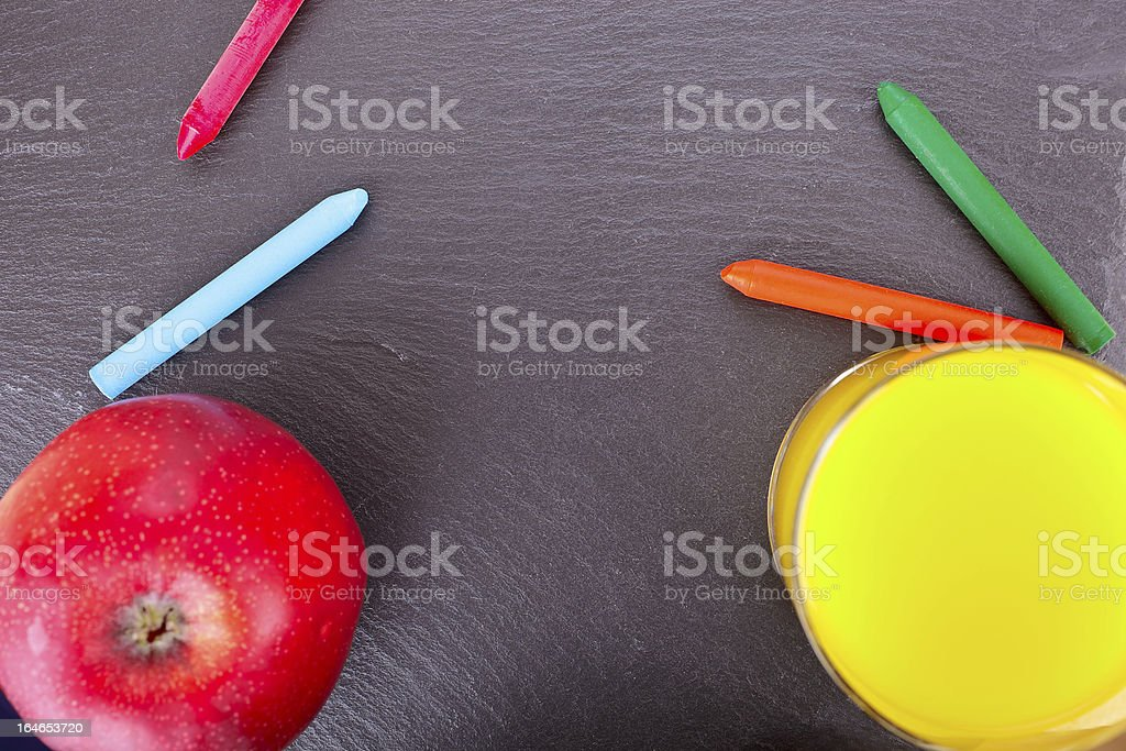 Learning and snack royalty-free stock photo