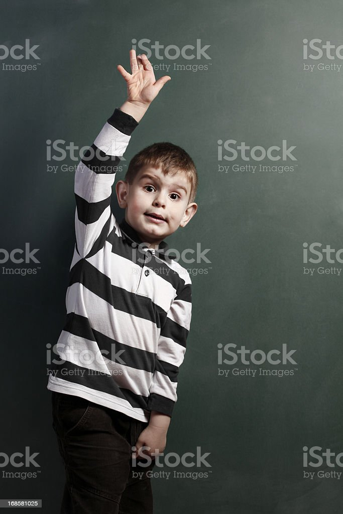 Learning and working hard royalty-free stock photo