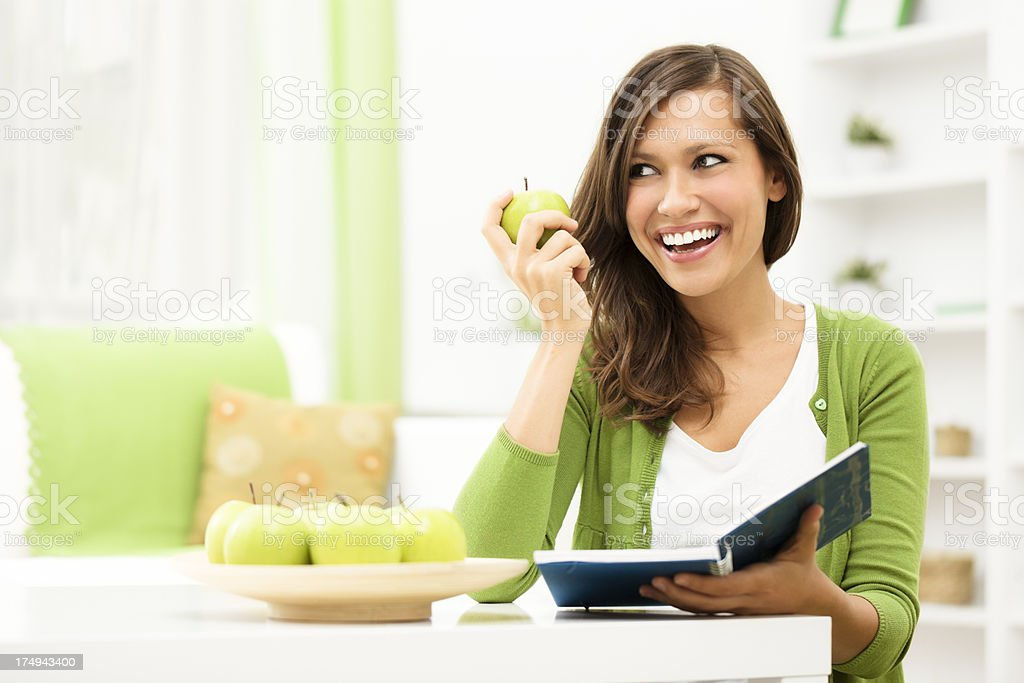 Learning at home royalty-free stock photo