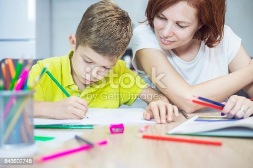 istock Learning at home 843602748