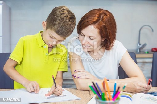 istock Learning at home 843602926