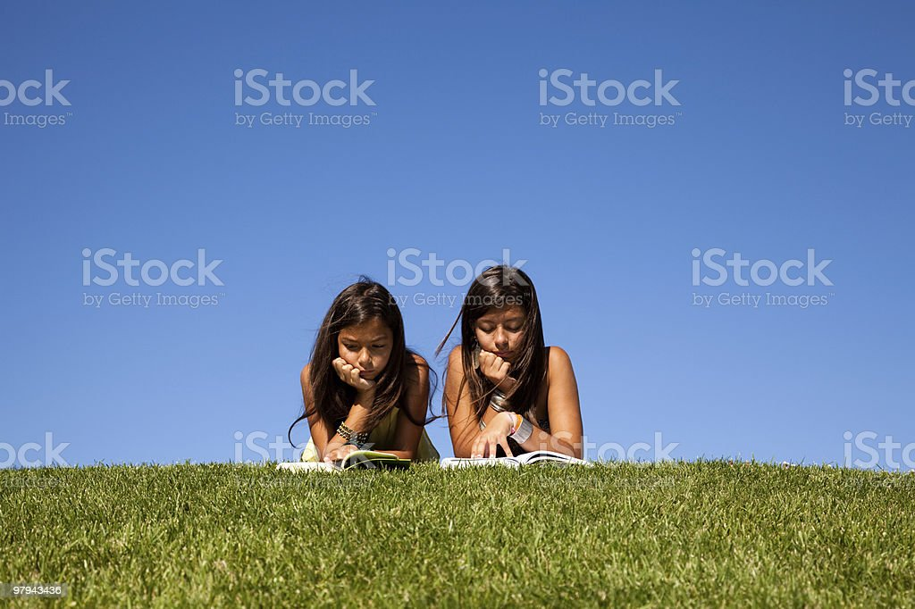 Learning at the park royalty-free stock photo