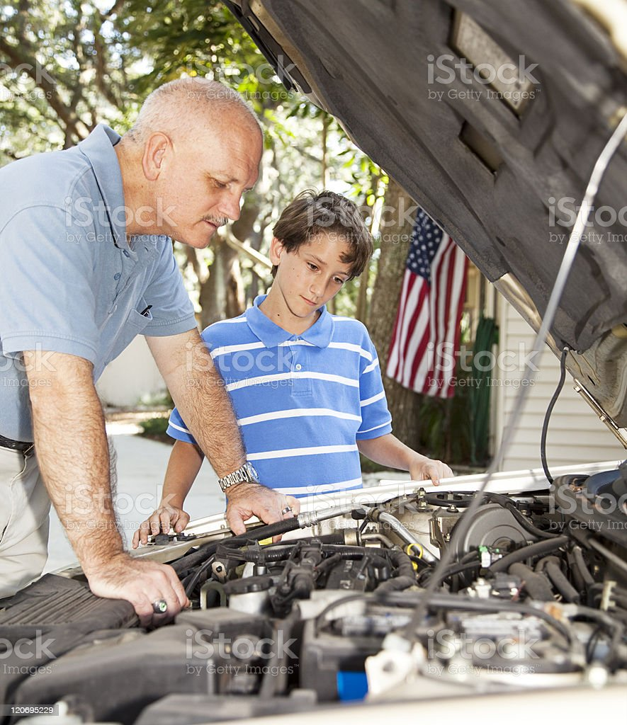 Learning Auto Repair royalty-free stock photo