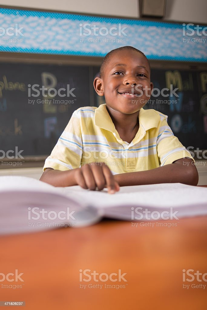 Learning Braille royalty-free stock photo