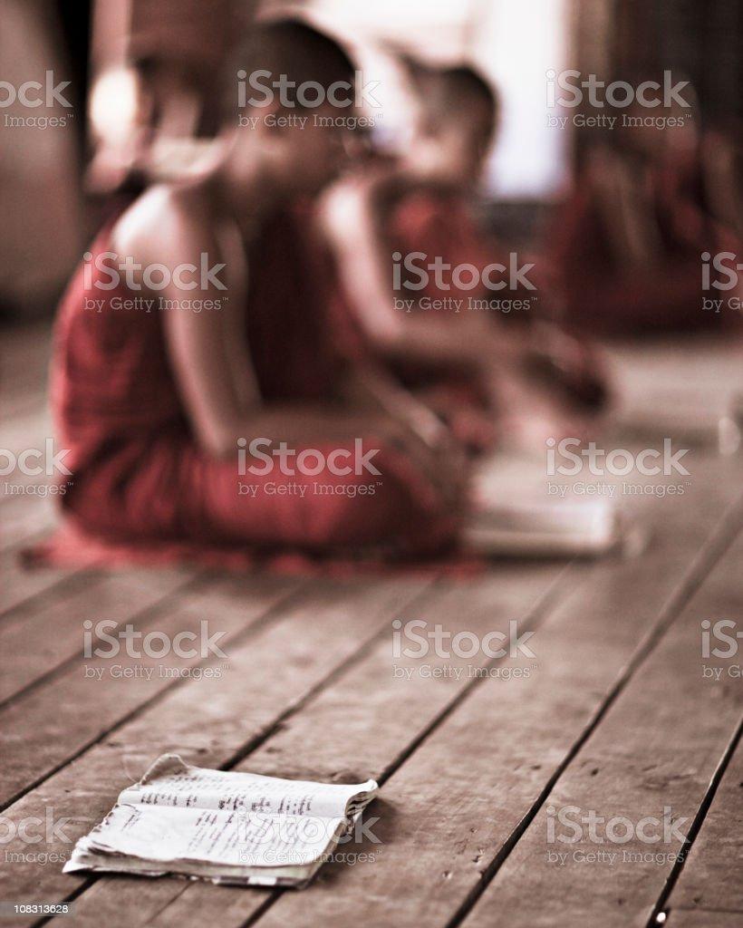 Learning Buddhism royalty-free stock photo