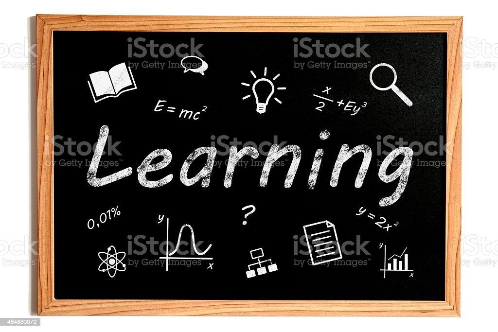 Learning Chalkboard stock photo