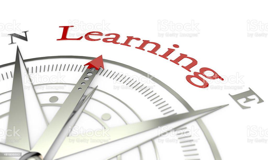 Direção a bússola de aprendizagem - foto de acervo