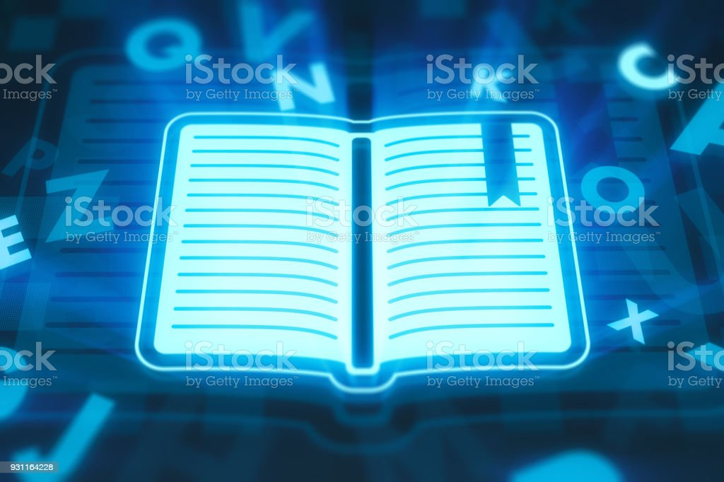 Learning concept on digital display stock photo