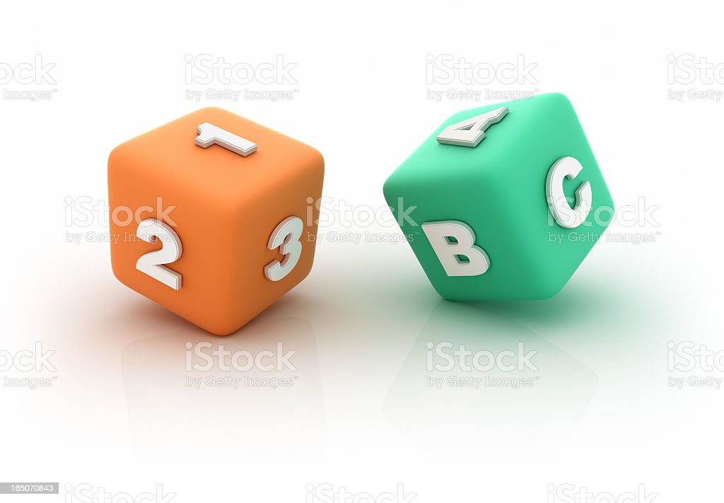Learning Cubes royalty-free stock photo