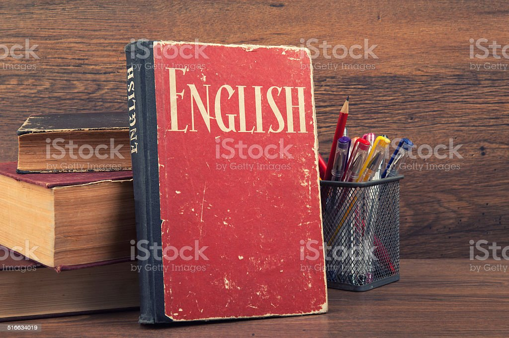 learning english concept stock photo