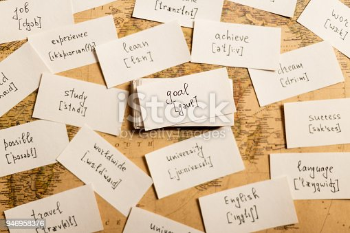 istock Learning english words. Goal 946958376