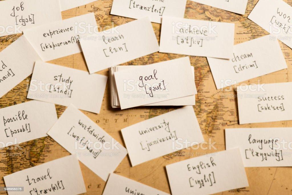 英語の単語を学習します。目標 ストックフォト