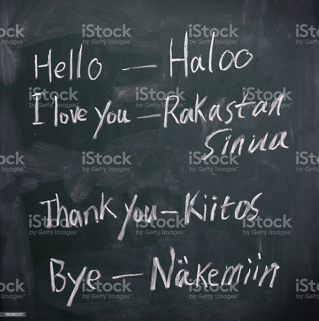 Learning Finnish royalty-free stock photo