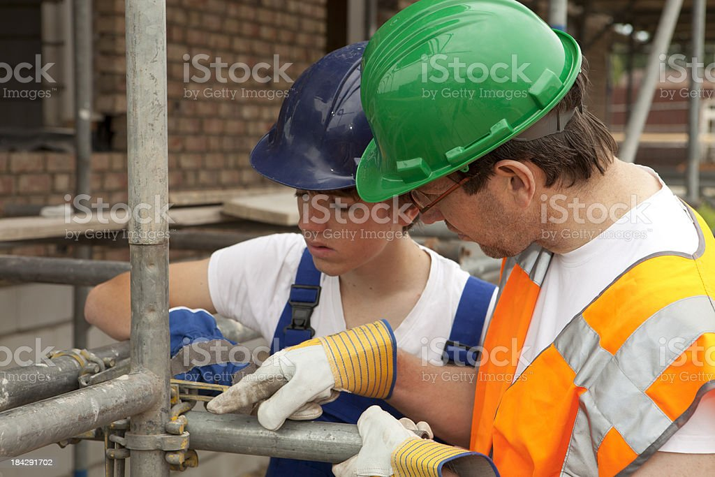 Learning for scaffold builder. royalty-free stock photo