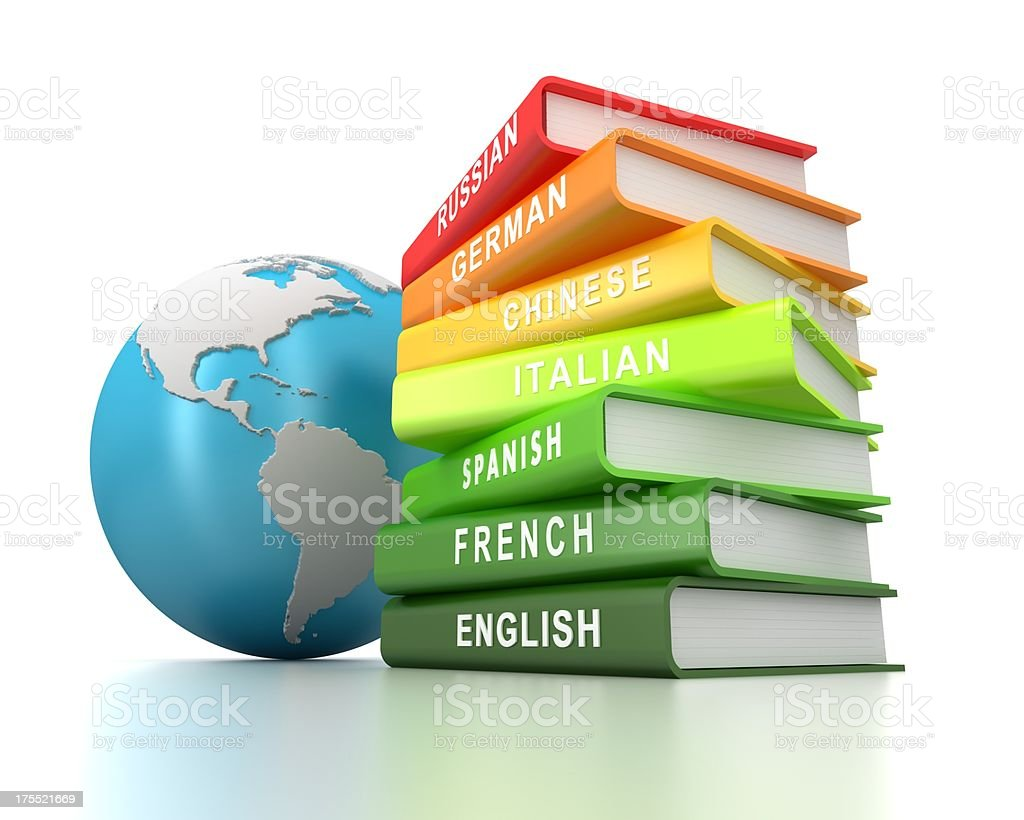 Learning foreign languages royalty-free stock photo