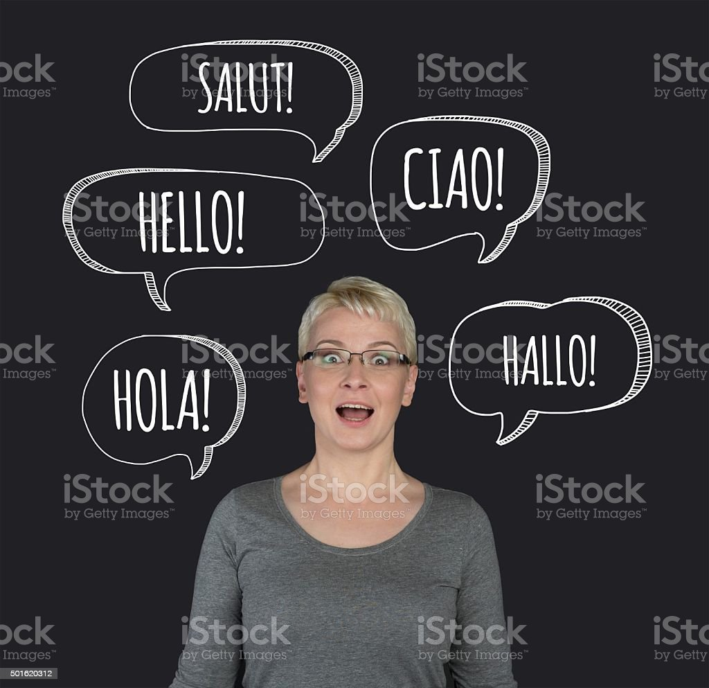 Learning foreign languages stock photo
