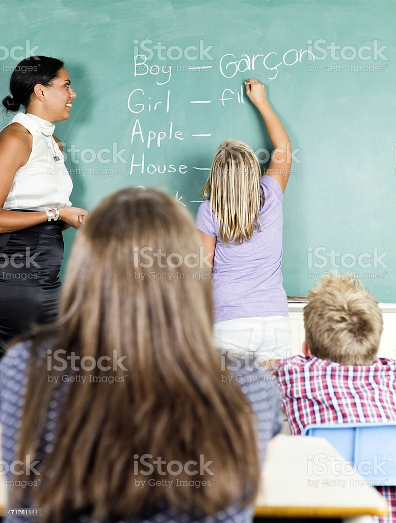 Learning French stock photo