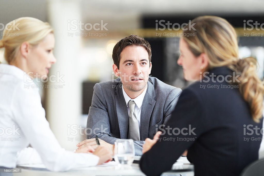 Learning from the corporate leaders royalty-free stock photo