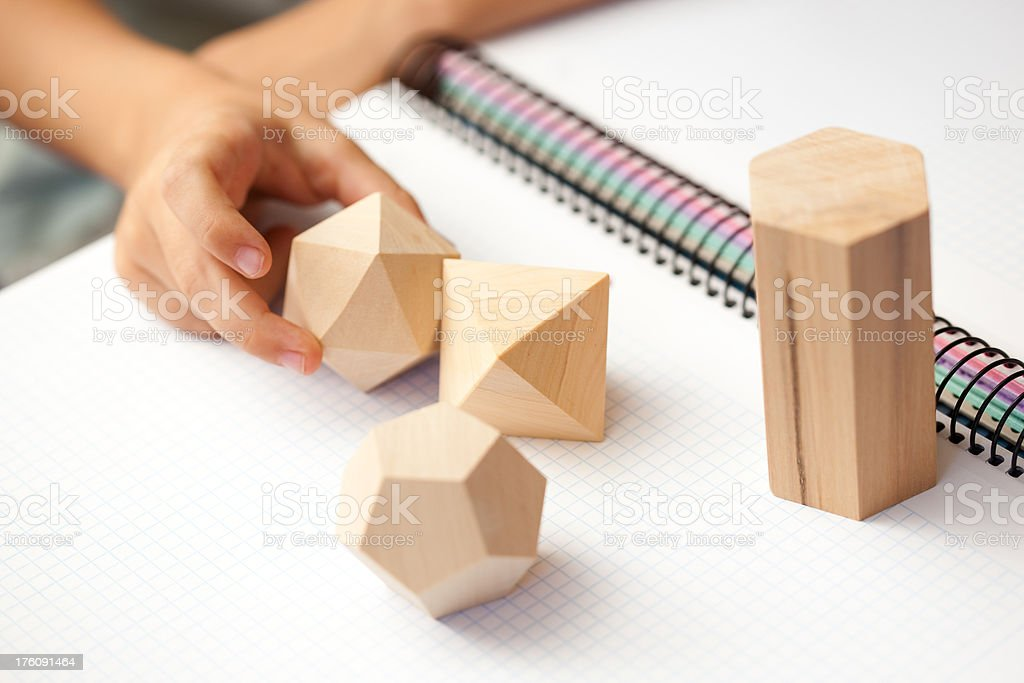 Learning geometry royalty-free stock photo