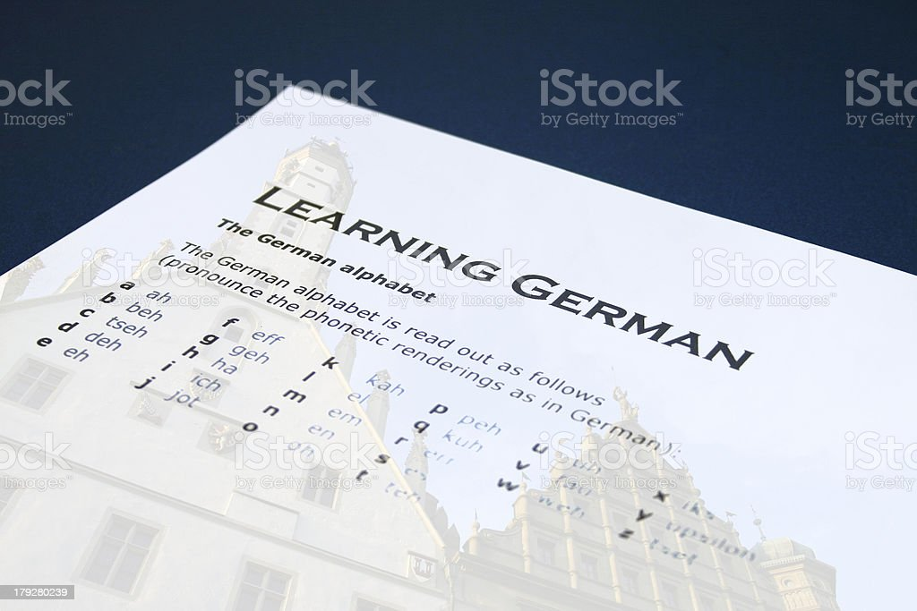 Learning German 2 royalty-free stock photo
