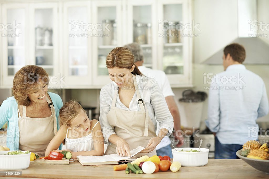 Learning how to prepare the perfect meal royalty-free stock photo