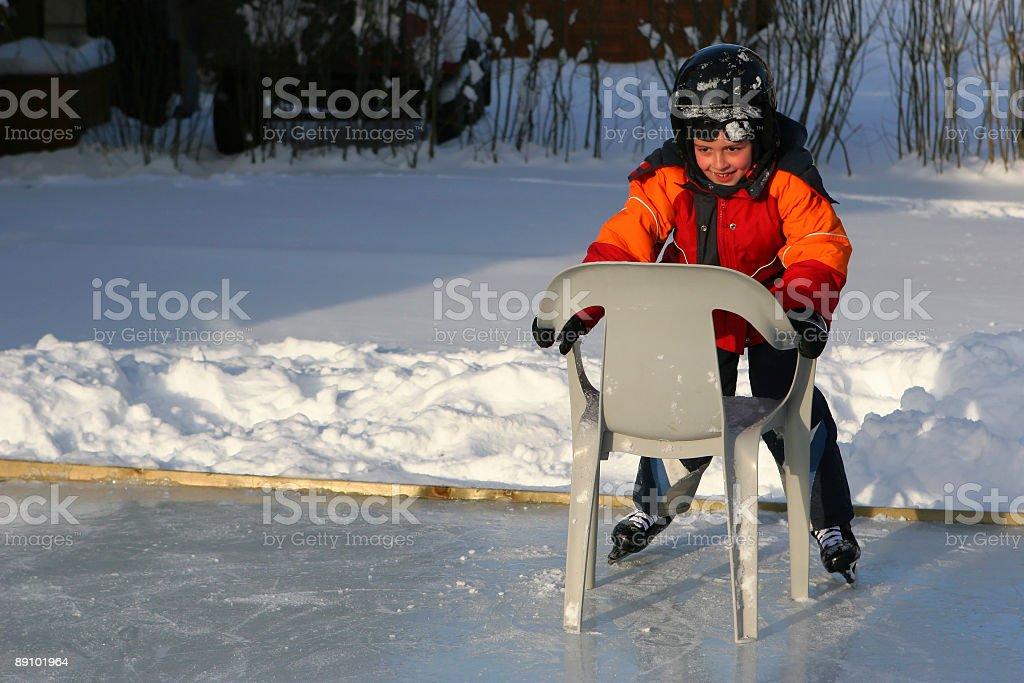 Learning Ice Skating royalty-free stock photo