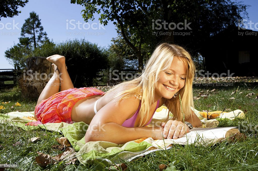 learning in the garden royalty-free stock photo