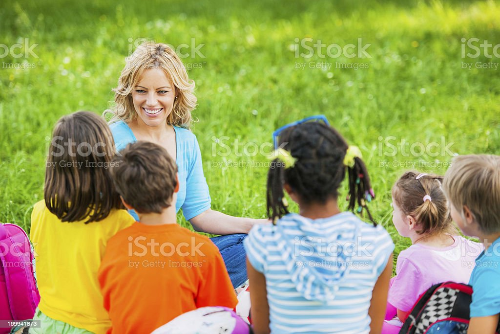 Learning in the park. royalty-free stock photo