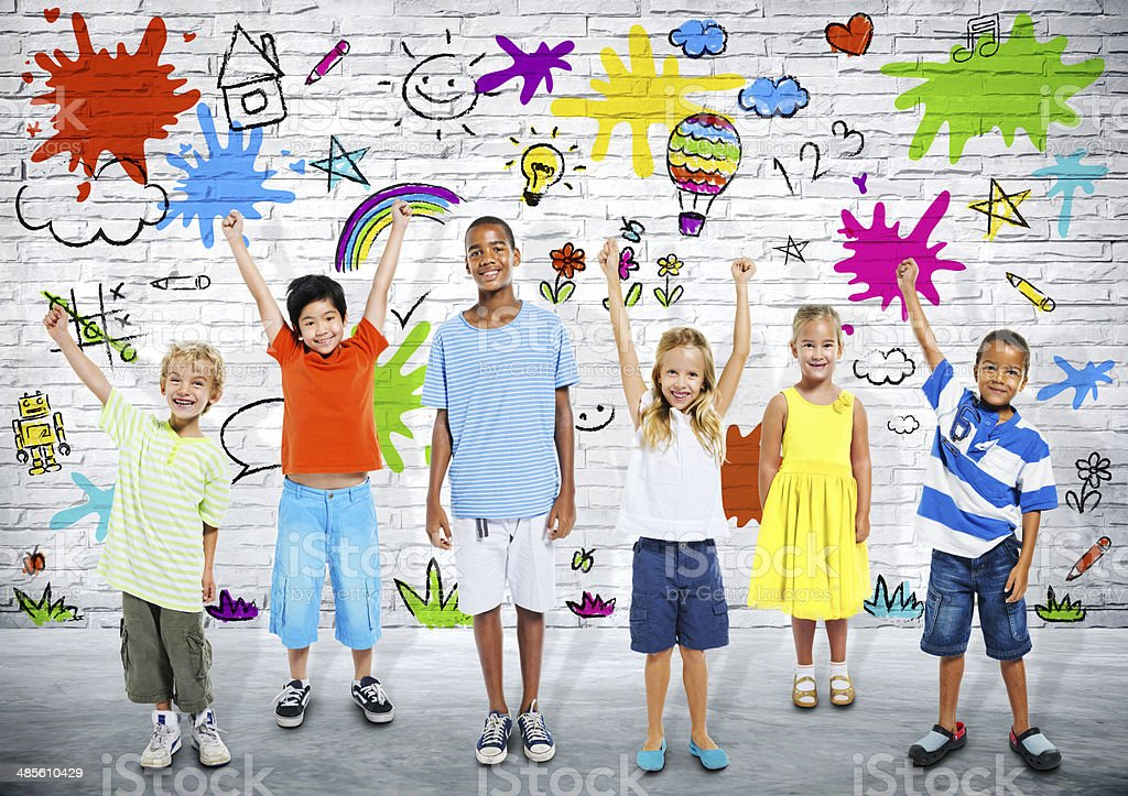 Learning kids stock photo
