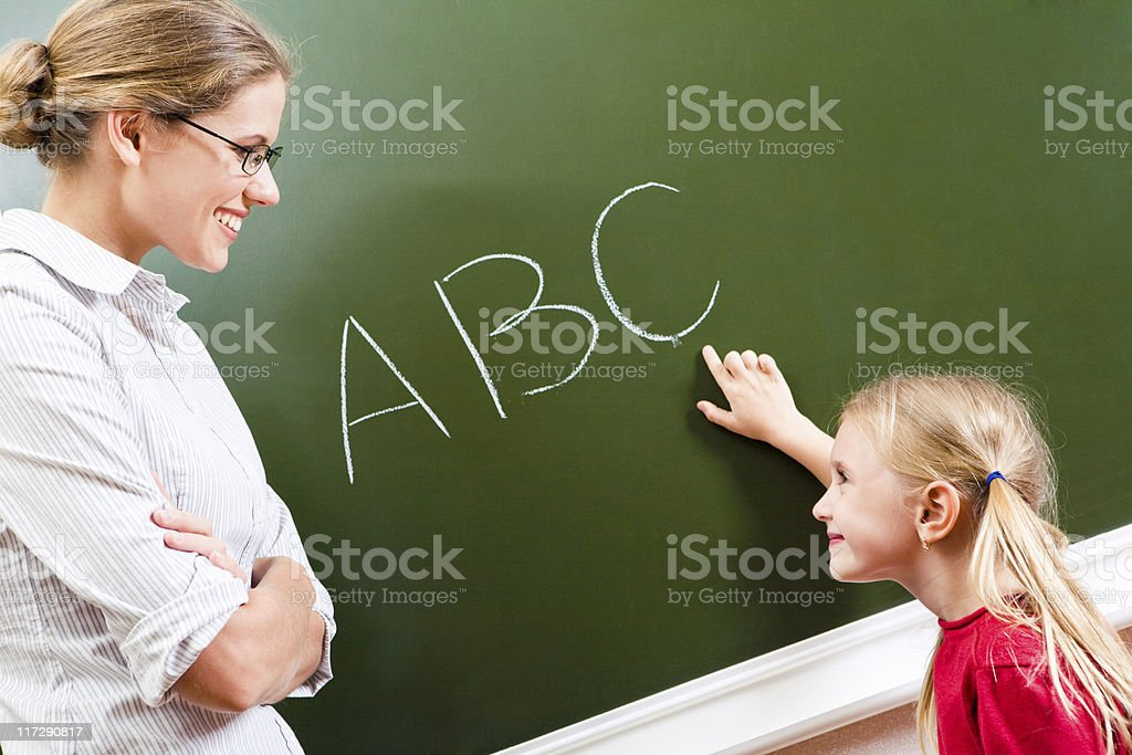Learning letters royalty-free stock photo