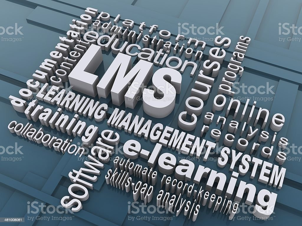 Learning Management System stock photo