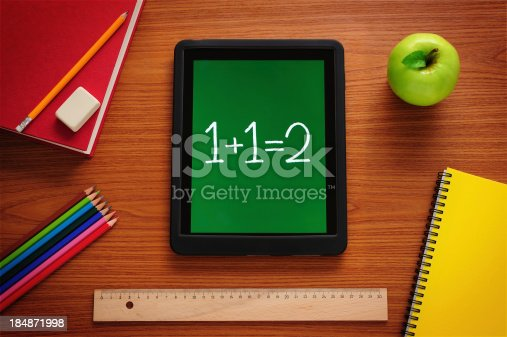 istock Learning Mathematics with tablet pc 184871998