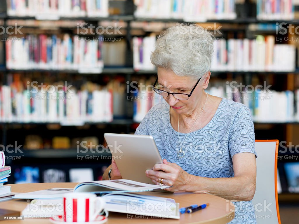 Learning new technologies stock photo