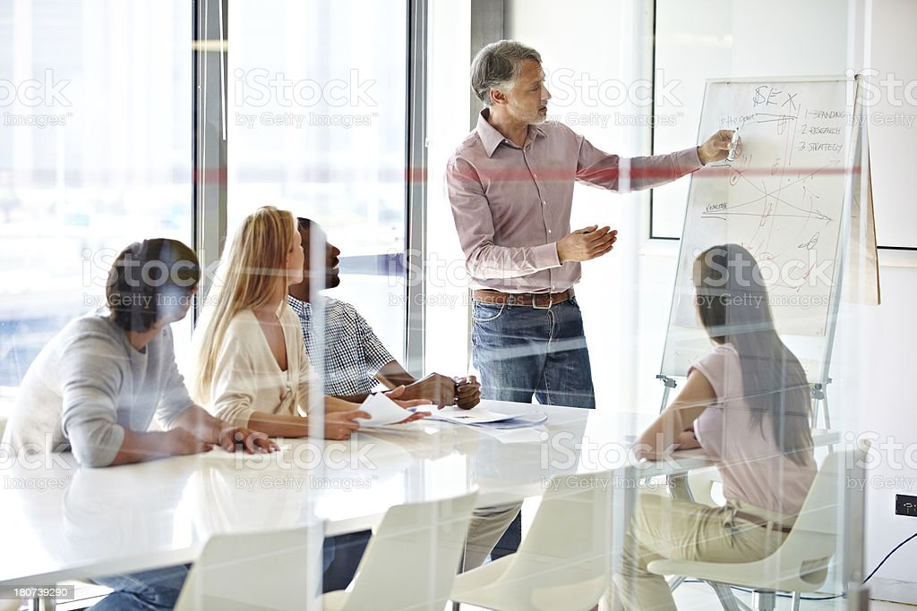 Learning new ways to do business stock photo