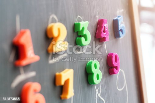 istock Learning numbers on a blackboard 514573868