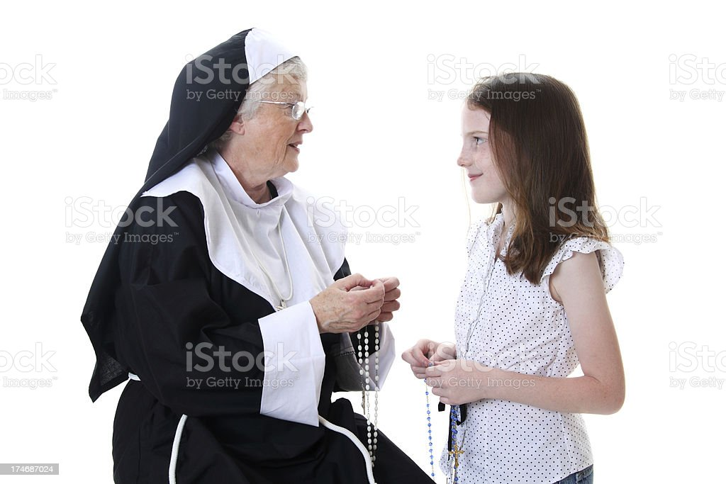 Learning the Rosary royalty-free stock photo