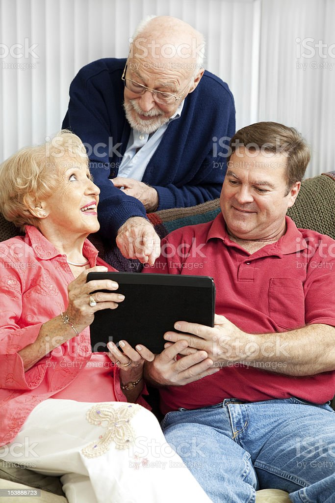 Learning the Tablet PC royalty-free stock photo