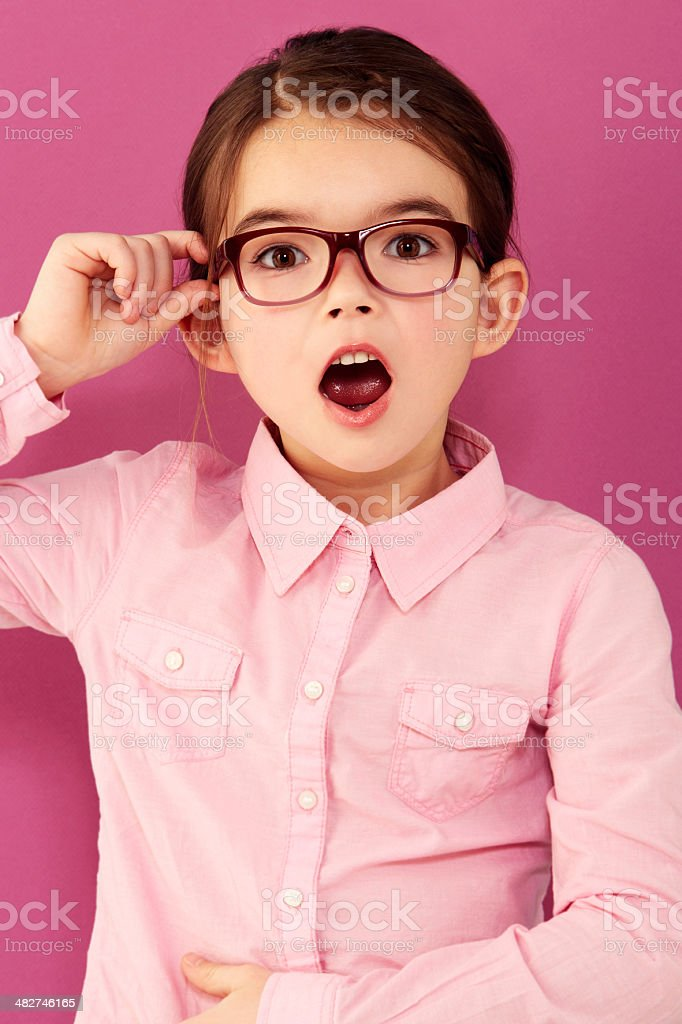 Learning things she never knew! royalty-free stock photo