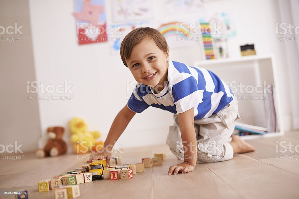 Learning through play stock photo