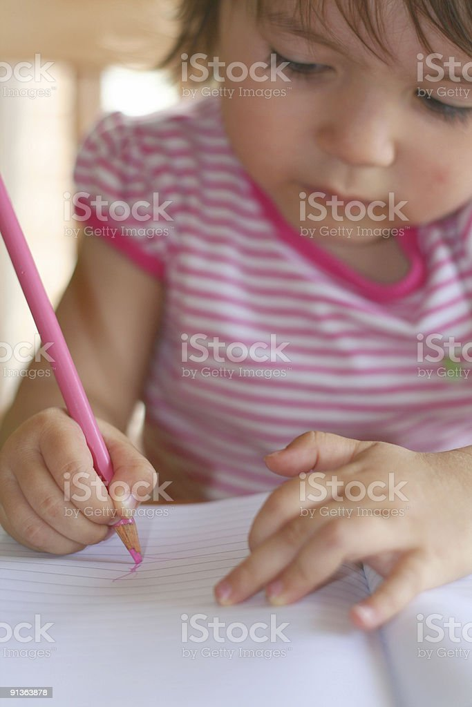 Learning to draw royalty-free stock photo