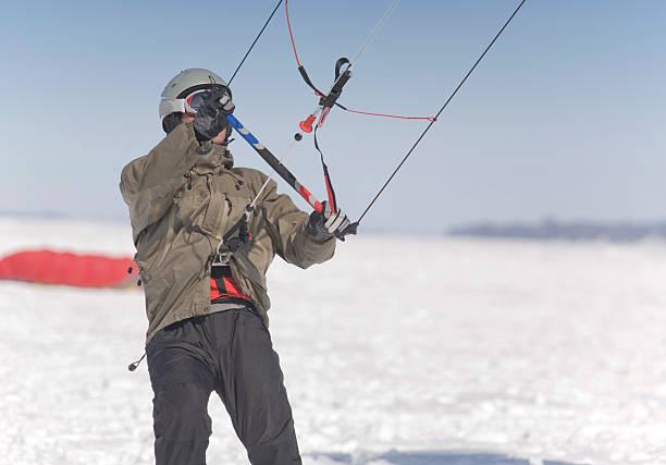 lernen, kite bord - kitesurfen lernen stock-fotos und bilder