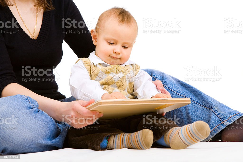 learning to play at home royalty-free stock photo