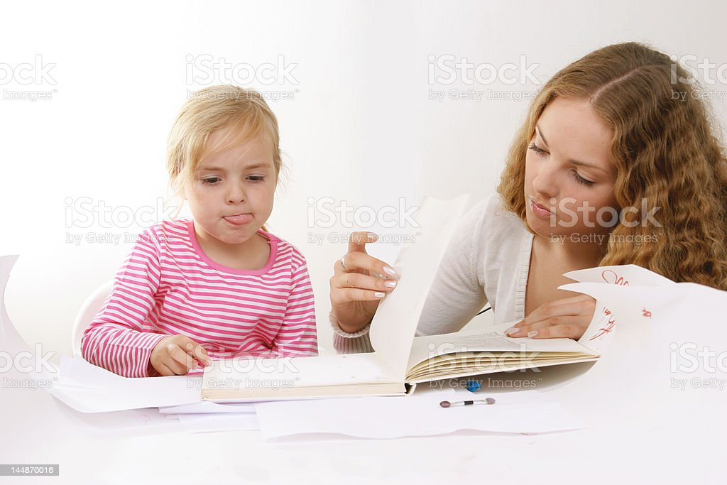 learning to read royalty-free stock photo
