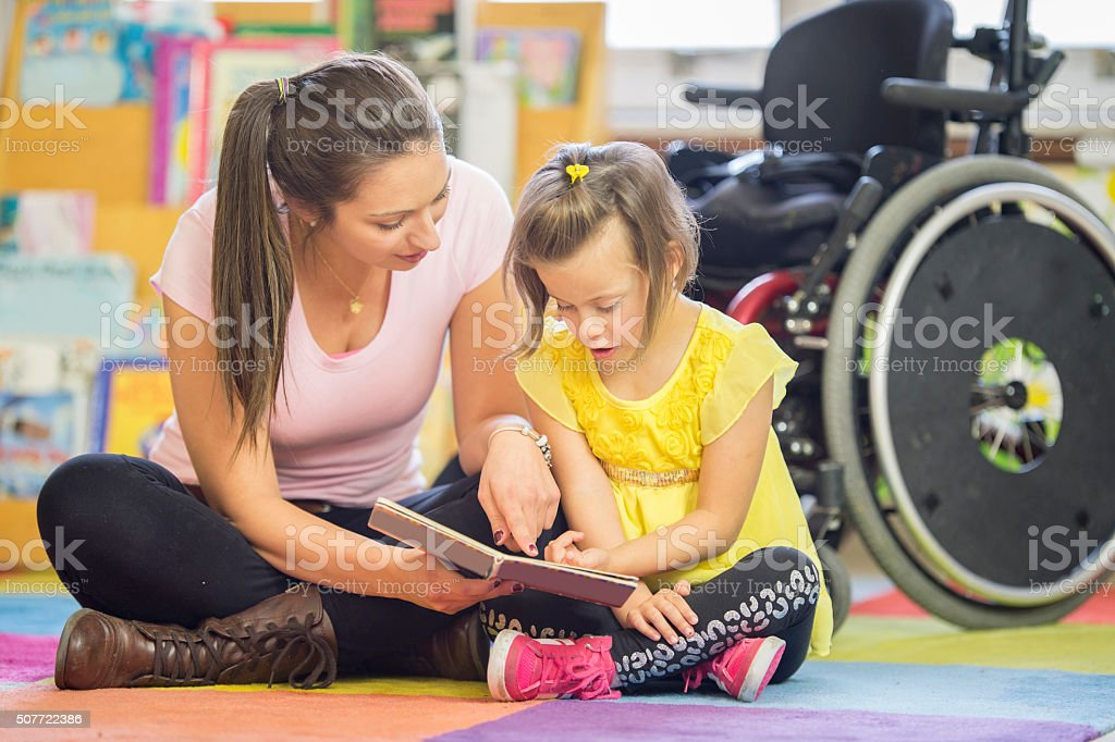 Learning to Read Together stock photo