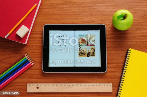 istock Learning to read with iPad 459397485