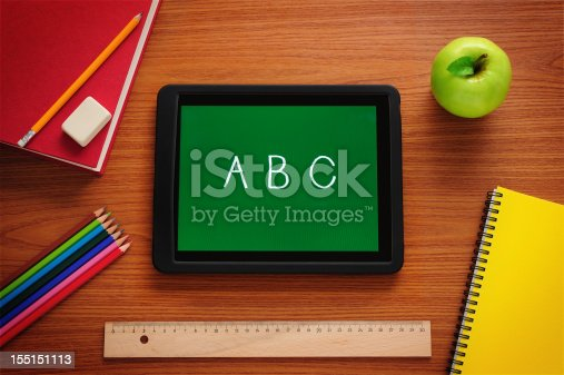 istock Learning to read with tablet PC 155151113