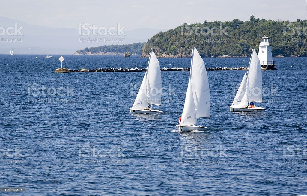 Learning to Sail royalty-free stock photo