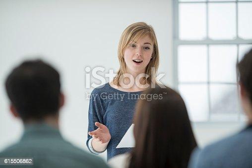 istock Learning to Speak in Public 615506862