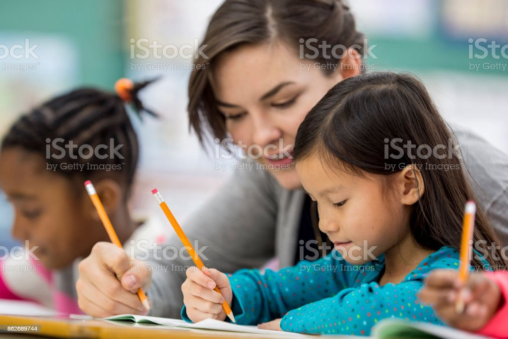 Learning To Spell stock photo